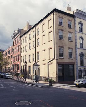 Facade of houses in Brooklyn