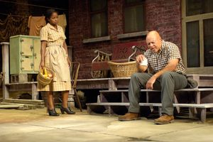 John Beasley (Troy Maxson) and Crystal Fox (Rose Maxson) in the Huntington Theatre Company's production of Fences.