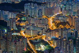 Urban Road and City Building of Hong Kong