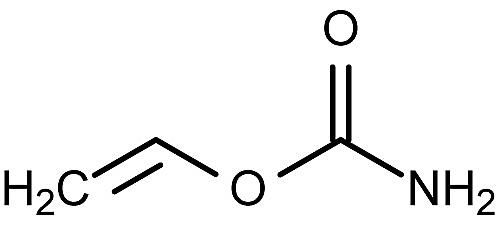 This is the chemical structure of vinyl carbamate.