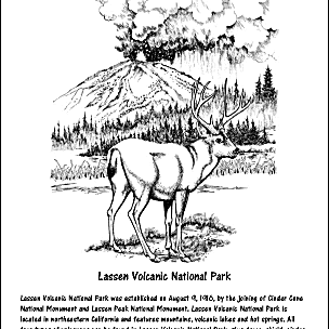 Lassen Volcanic National Park Coloring Page