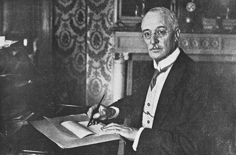 Inventor Rudolf Diesel at Desk