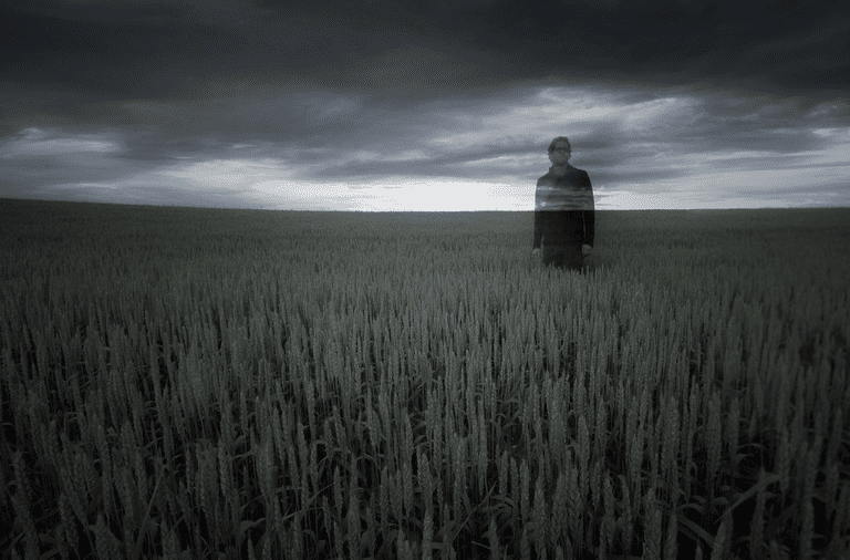 A man vanishing into thin air.