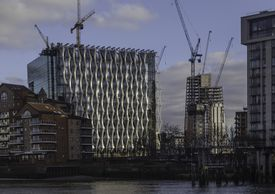 American Embassy under construction in London.