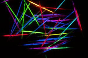 Many Glow Sticks With a Dark Background