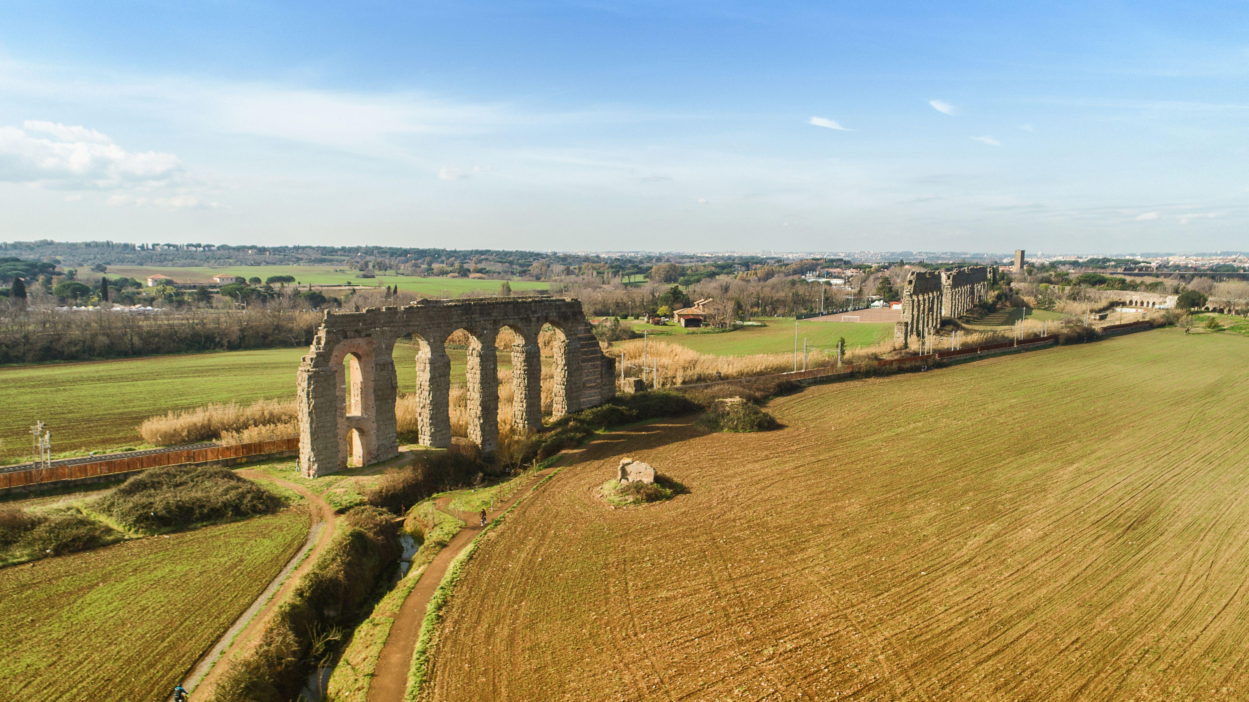Aerial view of the Aqueduct Park