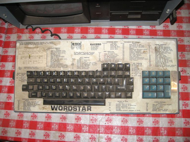 KayPro WordStar keyboard template.