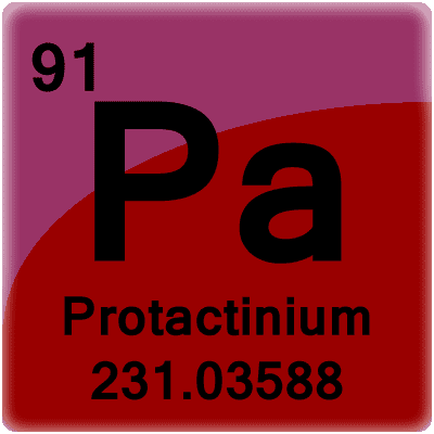 Pa Element Or Protactinium Facts