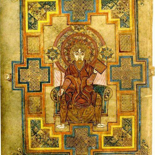 Glowing Golden Depiction of the Evangelist