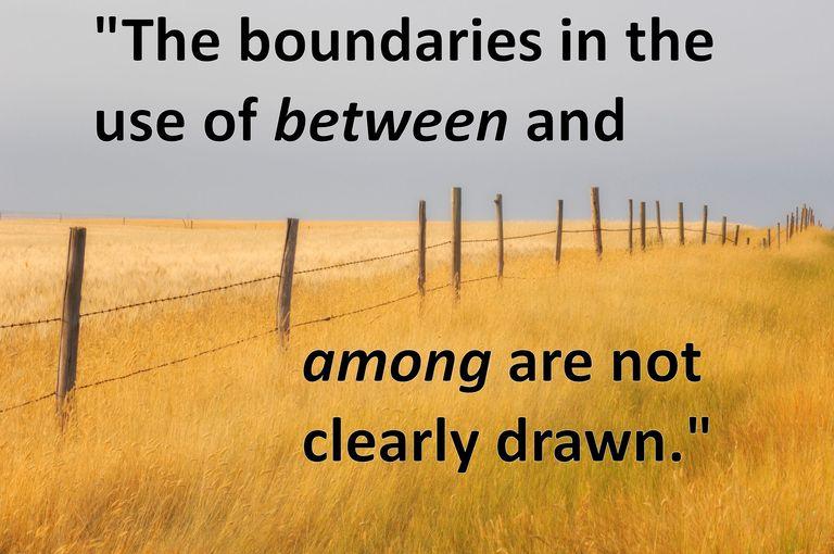 among and between