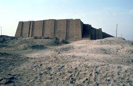 The Ziggurat wall of Ur, Iraq.