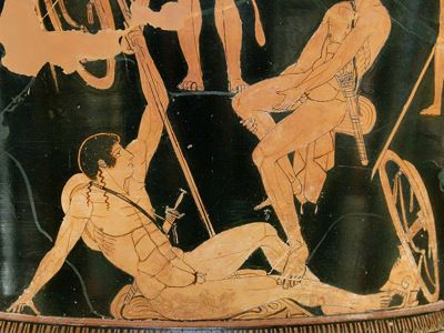 Theseus. From Theseus and the Gathering of the Argonauts. Attic red-figure calyx, 460-450 B.C.