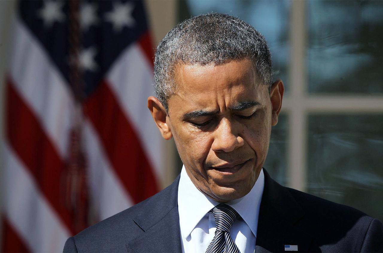 President Barack Obama at a press conference