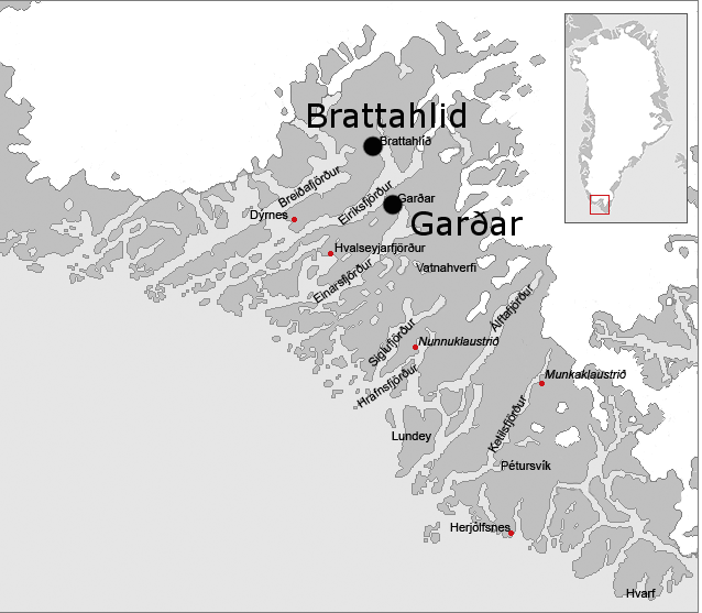 Garðar and Brattahild, Eastern Settlement, Greenland