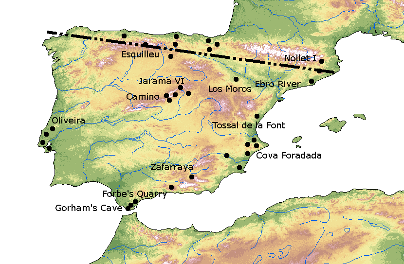 Neanderthal Sites North and South of the Ebro Frontier in Iberia