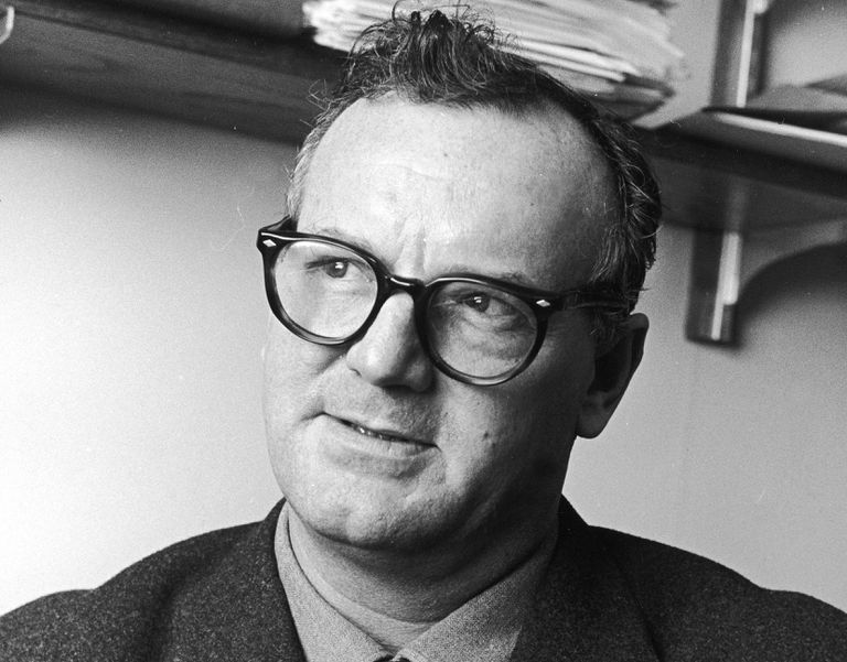 Black and white photo of C. Wright Mills.