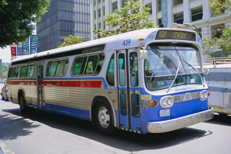 Bus, downtown San Diego, California, USA