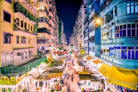 Night market Mong Kok, Hong Kong