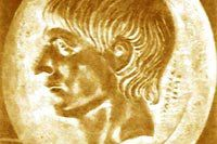 Profile of a young Scipio Africanus the Elder from a gold signet ring