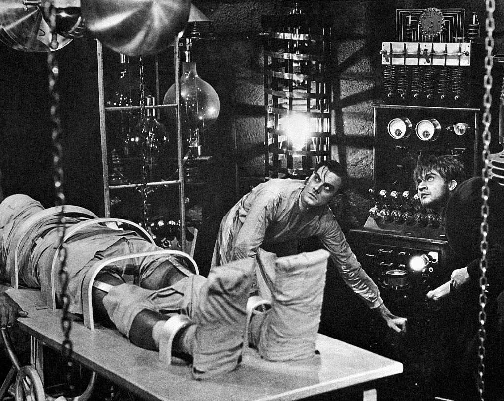 Dr. Frankenstein Bringing the Monster to Life