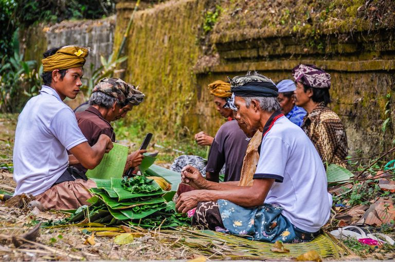 men in Bali