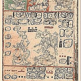Image from the Dresden Codex. Adapted from the 1880 edition by Förstermann.