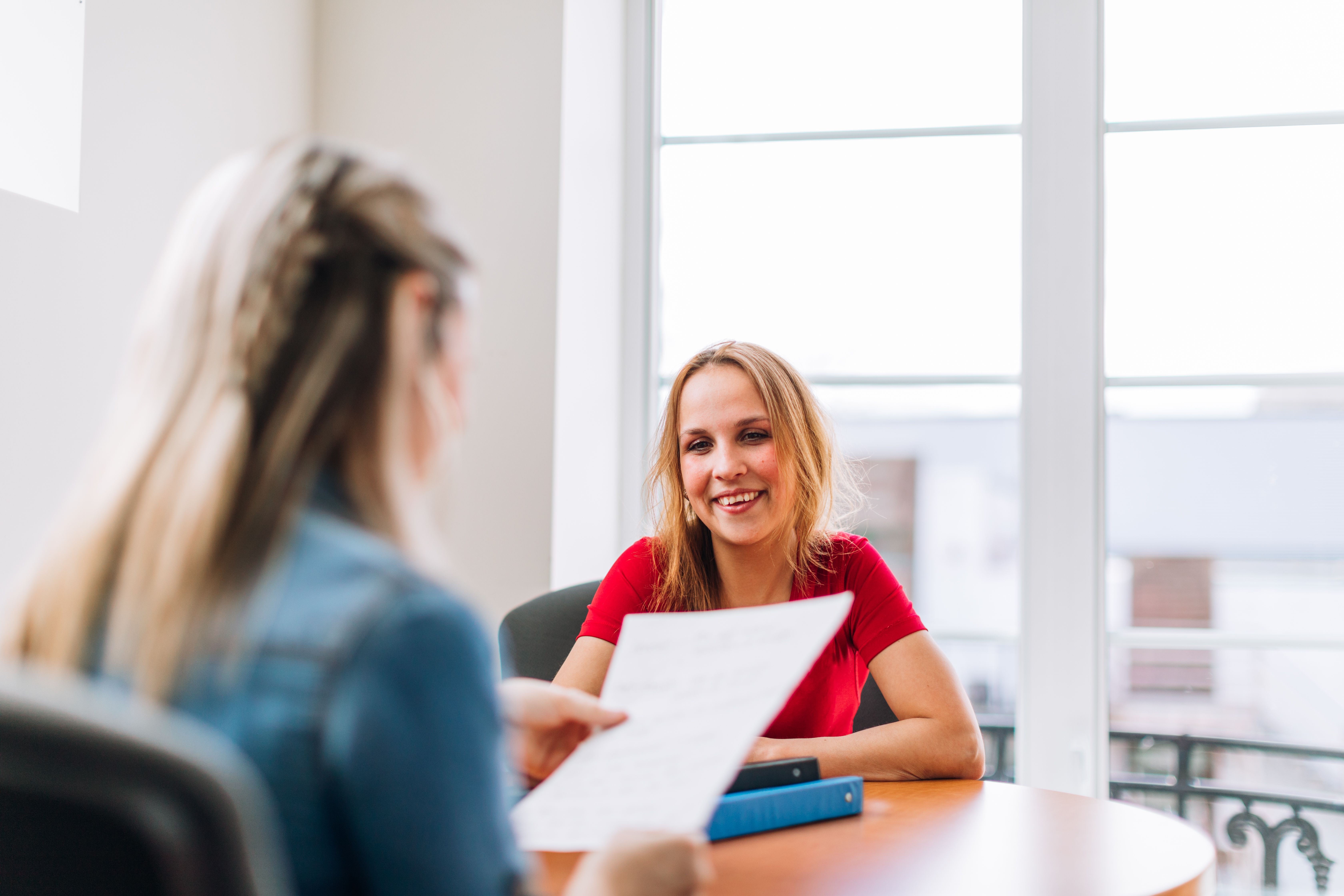 Job interview with Human resources staff