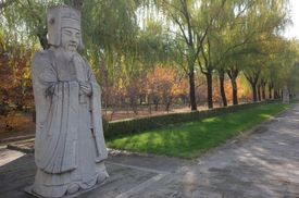 stone statues art in ming dynasty royal tomb