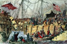 Illustration of the Boston Tea Party
