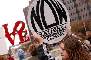 Pro-choice rally at Love Park November 13, 2003 in Philadelphia, Pennsylvania