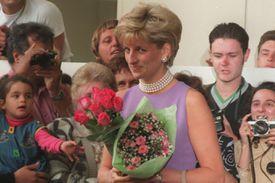 Princess Diana in a 1996 public appearance