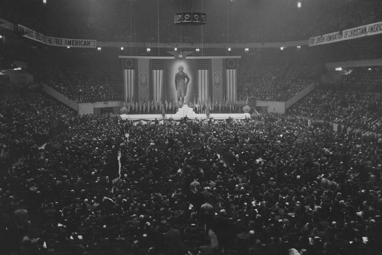 photo of German American Bund rally at Madison Square Garden