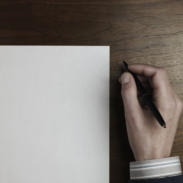 Pen and blank page