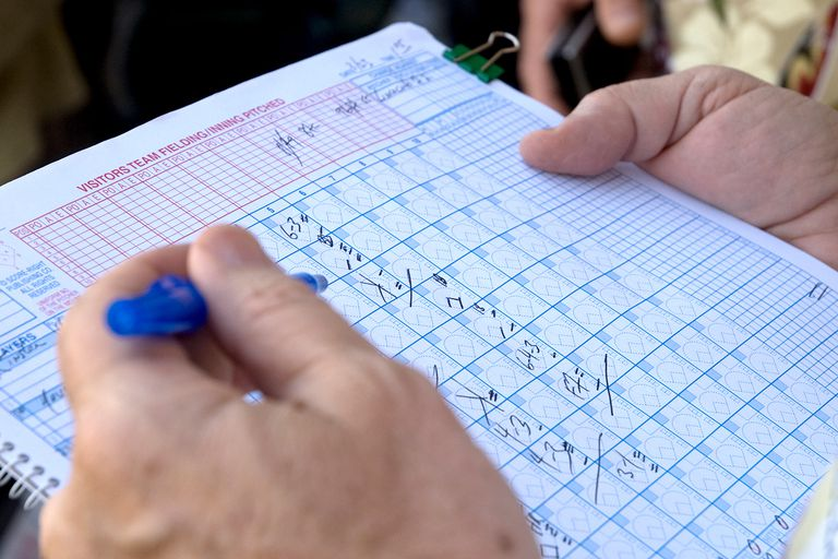 How To Keep A Baseball Game Score Book