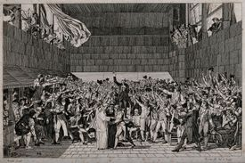 Oath of the Tennis Court etching