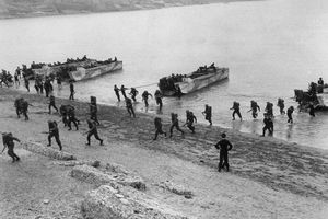 Soldiers Reaching The Shore on D-Day