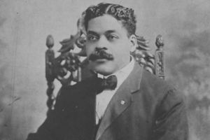 Arthur Alfonso Schomburg black and white picture.