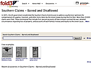 Records of the Southern Claims Commission - Barred and Disallowed