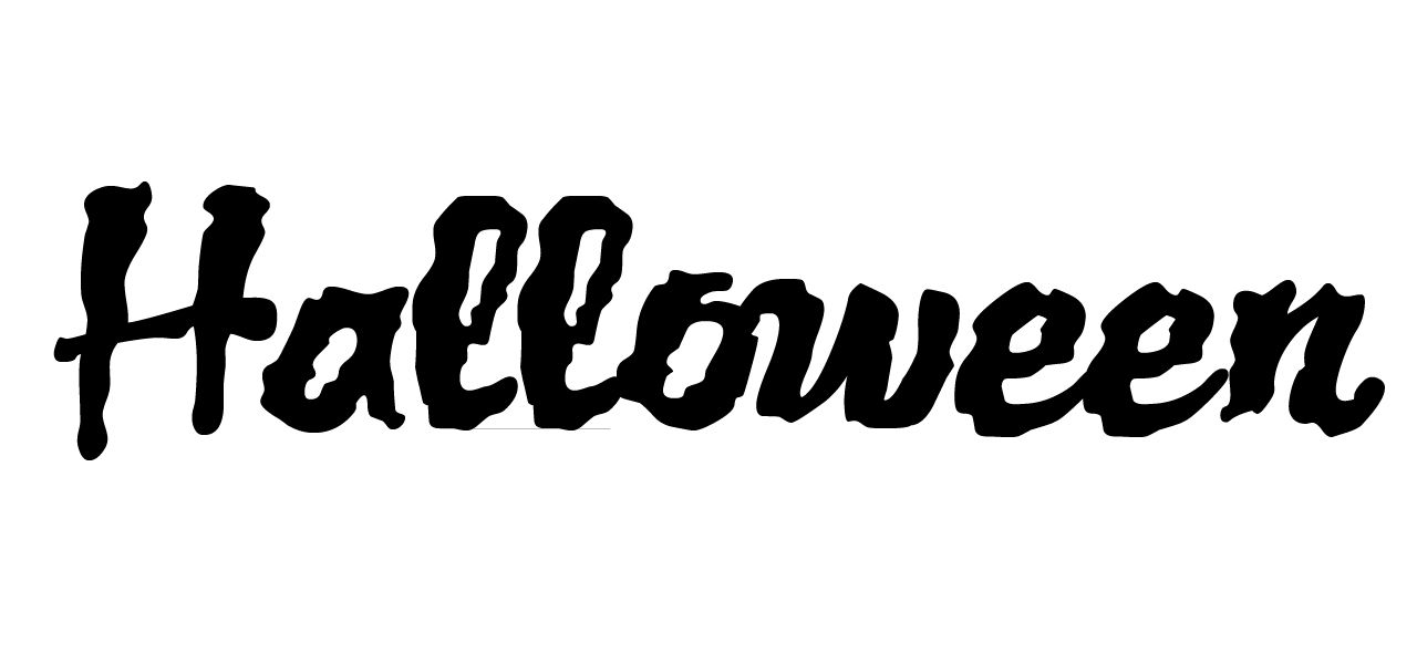 """Halloween"" in the Jack Lantern BB font."