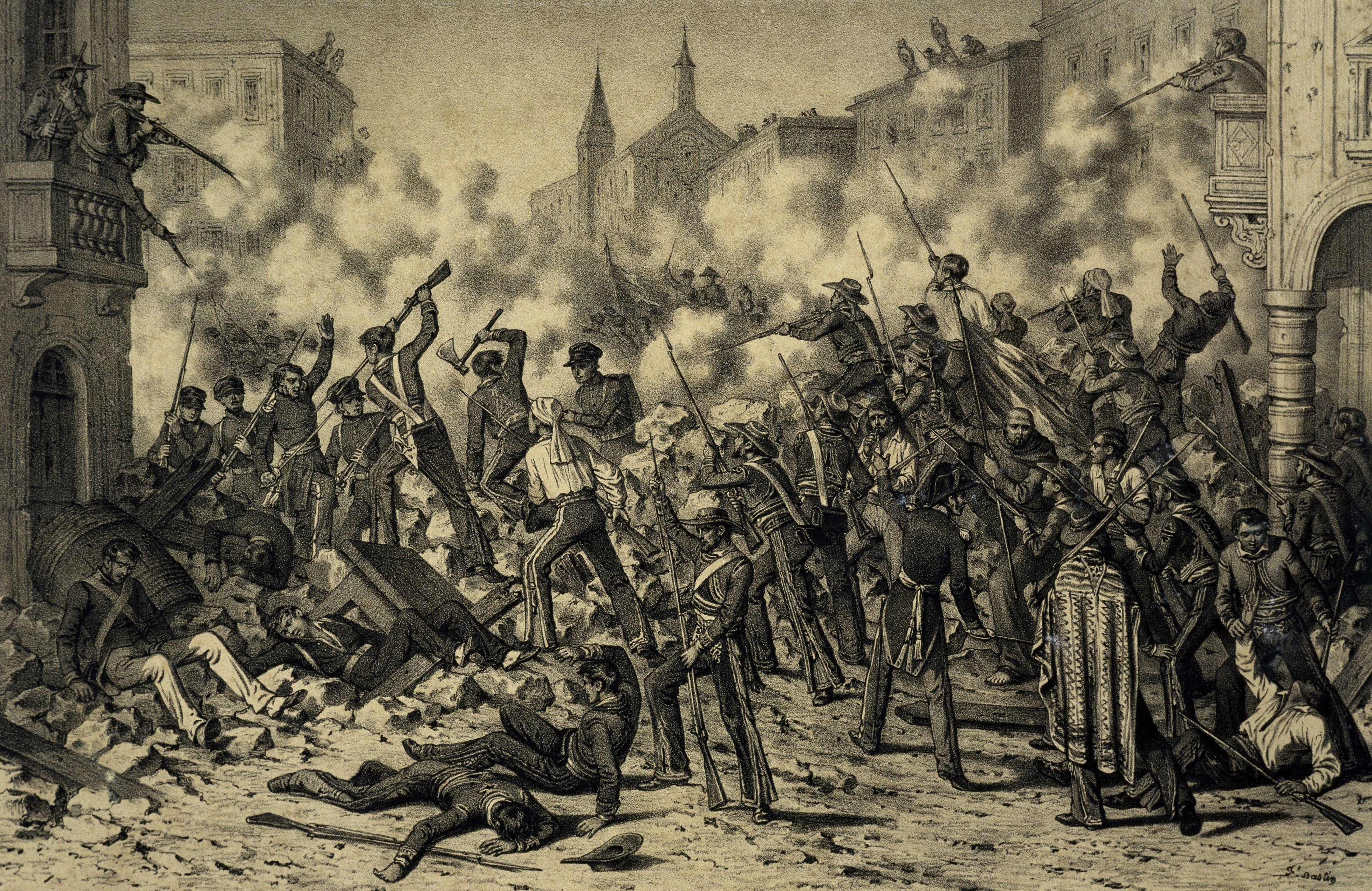 Battle of Monterrey, September 23, 1846. Mexican-American War, Mexico, 19th century