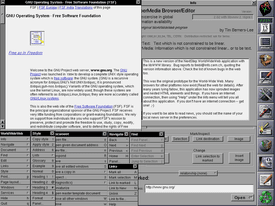 WorldWideWeb for NeXT, released in 1991, was the first web browser