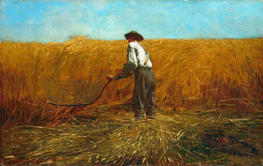 The Veteran in a New Field, 1865. Artist Winslow Homer.