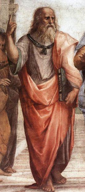 Plato, from Scuola di Atene fresco, by Raphael Sanzio. 1510-11.