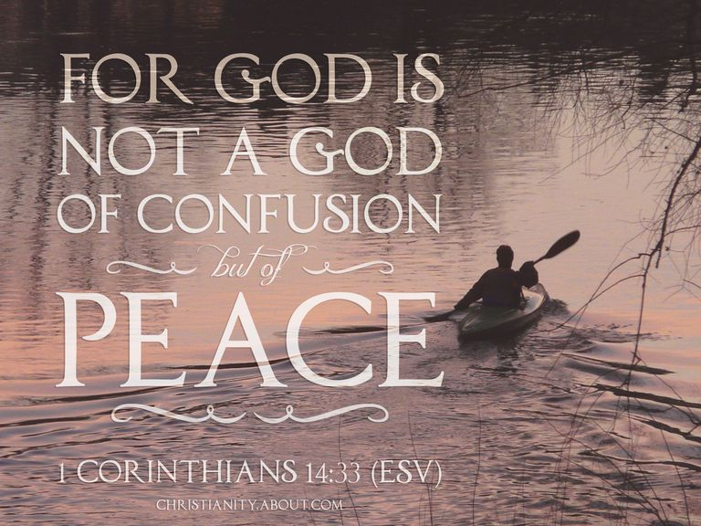 1 Corinthians 14:33 Defeating Confusion