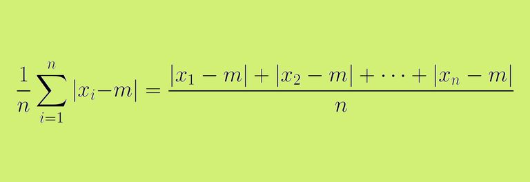 Formula for the mean absolute deviation