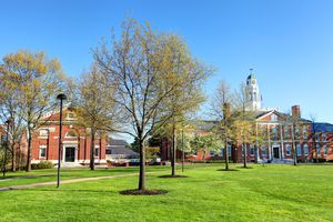 Phillips Exeter Academy campus on a sunny day.