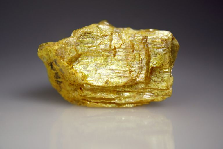 Orpiment mineral or arsenic sulfide