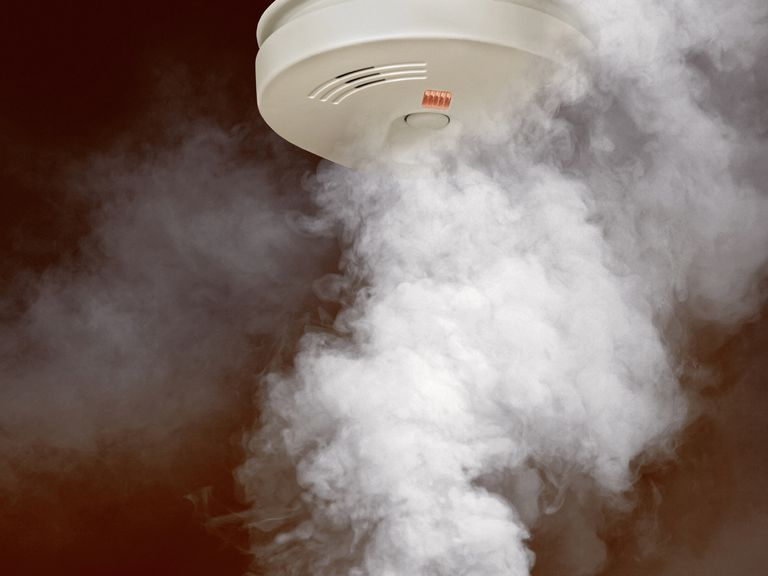 Smoke around smoke detector