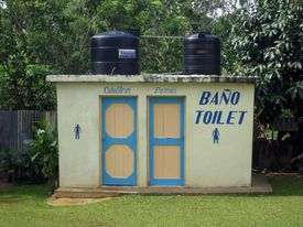 Dominican Republic bathrooms to illustrate lesson on the neuter gender in Spanish