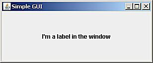 Using JFrame to Create a Simple Window